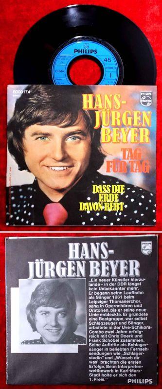 Single Hans Jürgen Beyer: Tag für Tag (Philips 6000 174) D 1975