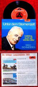 Single Willy Schneider: Unter dem Sternenzelt (Polydor 52 355) D 1964