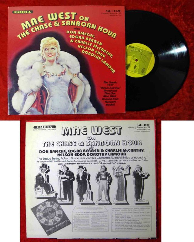 LP Mae West: The Chas & Sanborn Hour 1937 w/ Don Ameche Dorothy Lamour