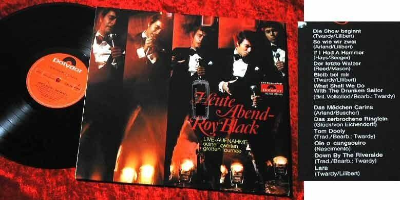 LP Roy Black: Heute abend - Roy Black Live Mitschnitt