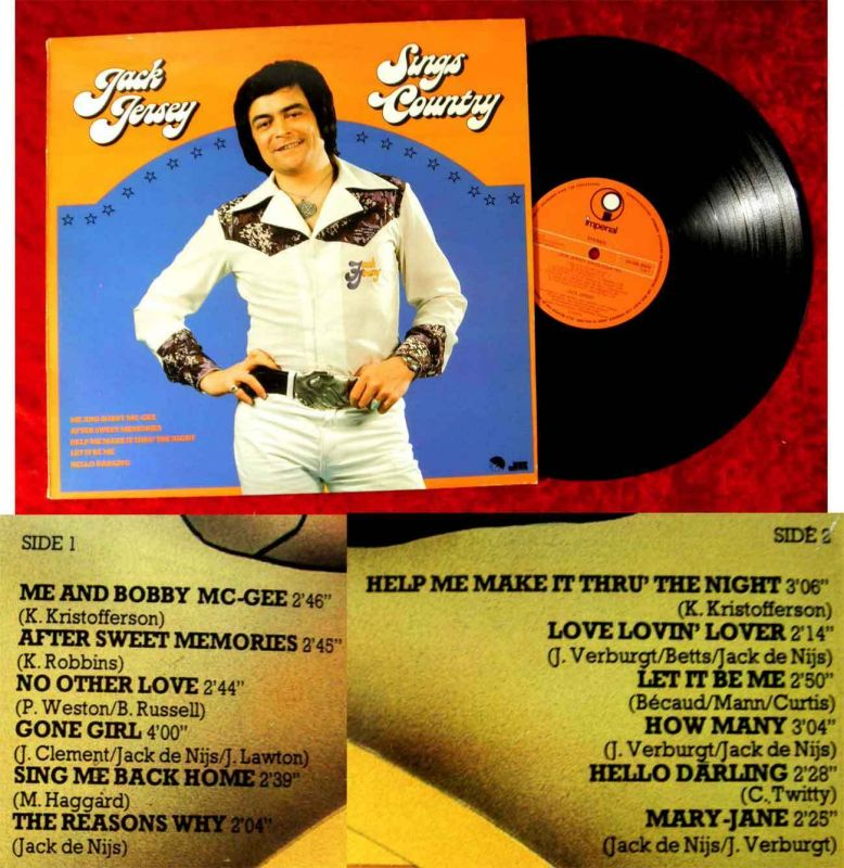 LP Jack Jersey: Sings Country (EMI 5N 026N-25416) NL