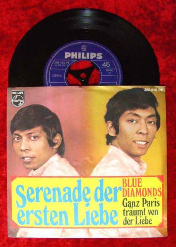 Single Blue Diamonds: Serenade der ersten Liebe (Philips 388 418) D