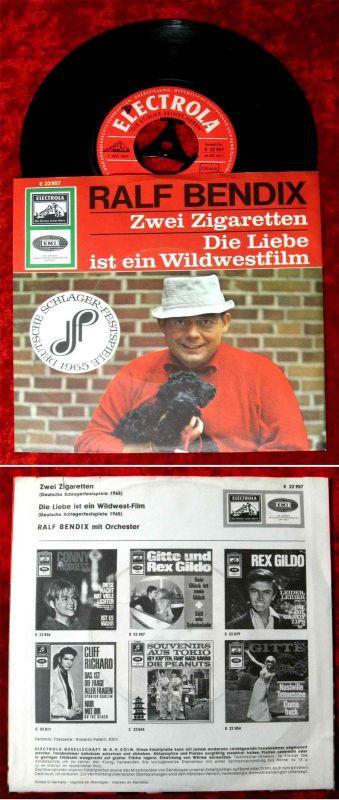 Single Ralf Bendix: Zwei Zigaretten (Electrola E 22 957) D 1965