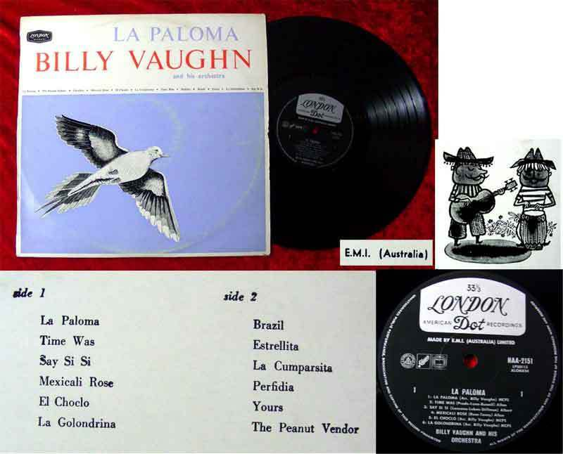 LP Billy Vaughn: La Paloma  (Australien) (London HAA-2151)