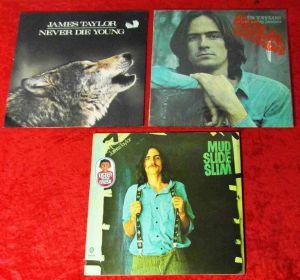 3 Langspielplatten JAMES TAYLOR  - Vinylsammlung -