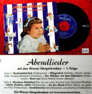 EP Wiener Sängerknaben: Abendlieder (Philips 428 084 PE) D 1962