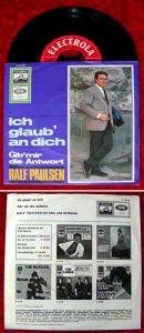 Single Ralf Paulsen: Ich glaub an Dich / Gib mir die Antwort (Electrola 23 178)