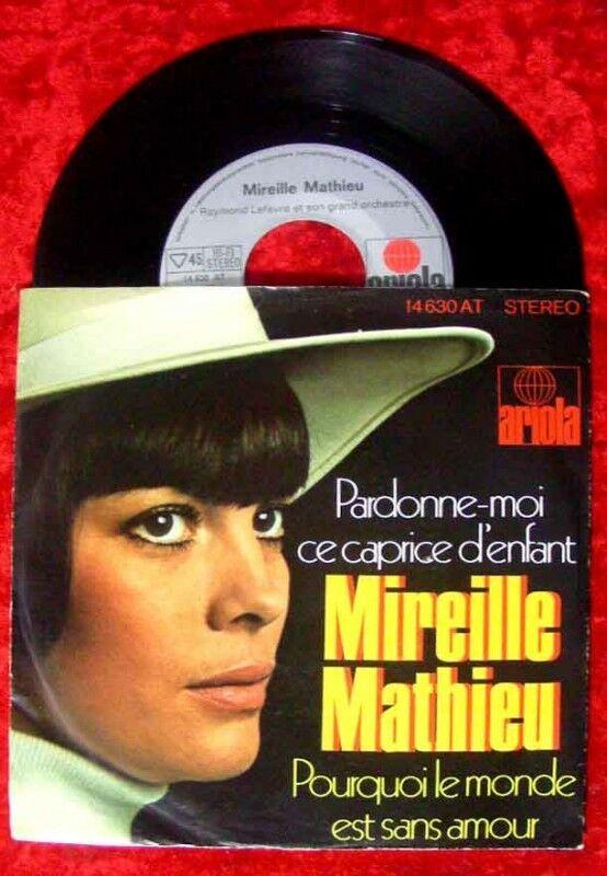 Single Mireille Mathieu Pardonne-moi ce caprice d´enfan