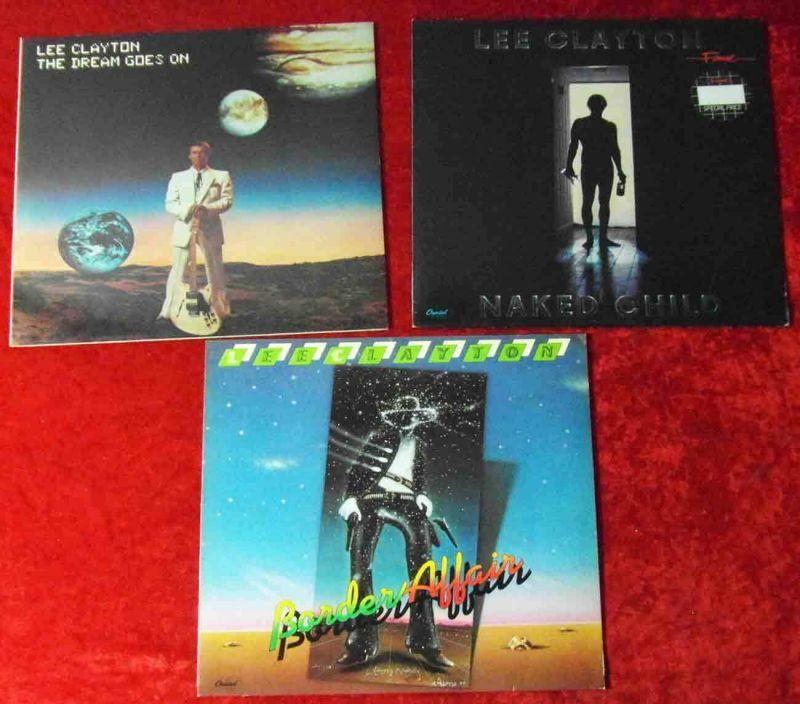 3 Langspielplatten LEE CLAYTON  - Vinylsammlung -
