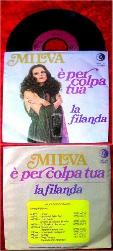 Single Milva: Per Colpa Tua / La Filanda