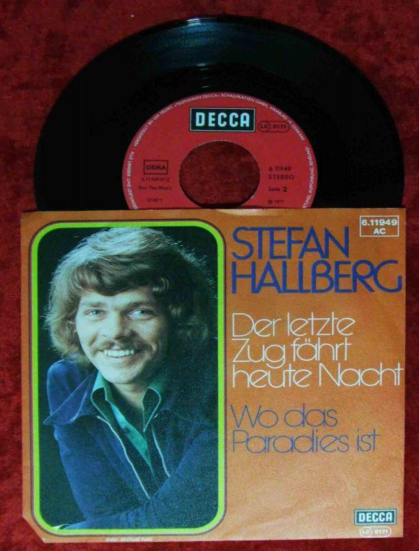 Single Stefan Hallberg: Der letzte Zug fährt heute Nacht (Decca 611949 AC) D 77 0