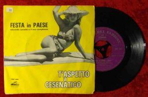 Single Secondo Casadei: T`Aspetto A Cesennatico (HMV 7MQ 1669)  Italy