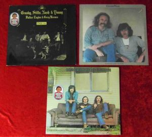 3 Langspielplatten - CROSBY STILLS NASH & YOUNG - Vinylsammlung -