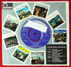 Single High Society: People Passing by (Fontana TF 771) UK 1966 Musterplatte