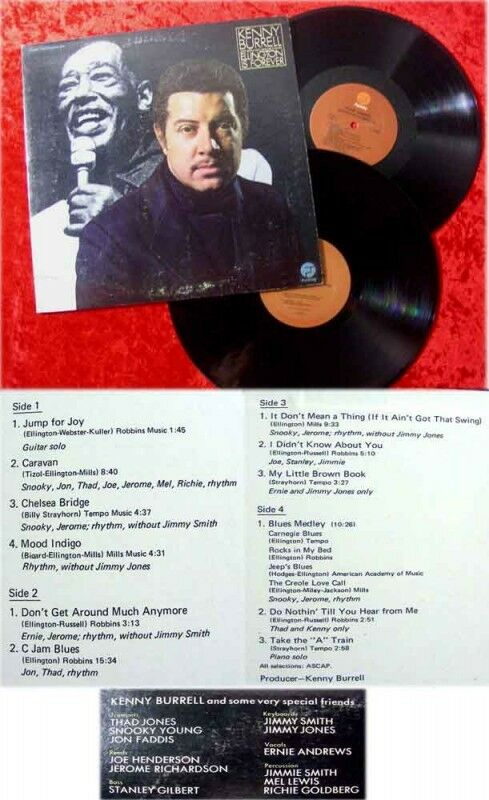 2LP Kenny Burrell Ellington Is Forever 1975 feat Jimmy