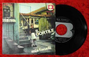 Single Mia Fanelli: Mare Blu / Il Cortile  (Bentler 5031) Italy