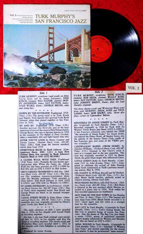 LP Turk Murphy´s San Francisco Jazz Vol. 2 (Good Time L-12027) US