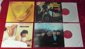 4 Langspielplatten - ROLLING STONES / MICK JAGGER - Vinylsammlung -