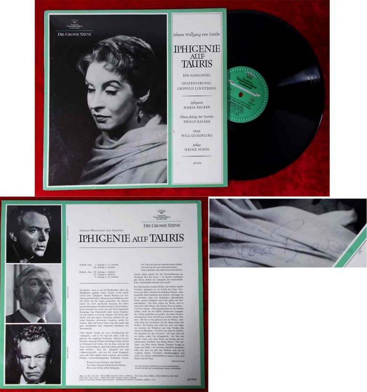 LP Iphigenie auf Tauris - mit Maria Becker - (DGG 40 002) Signiert 1966