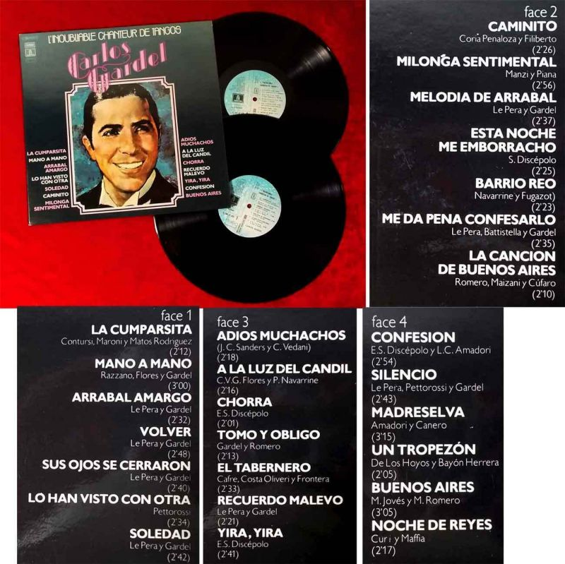 2LP Carlos Gardel: L`Inoubliable Chanteur de Tangos (EMI Pathé 2C 184-81924-5) F 0