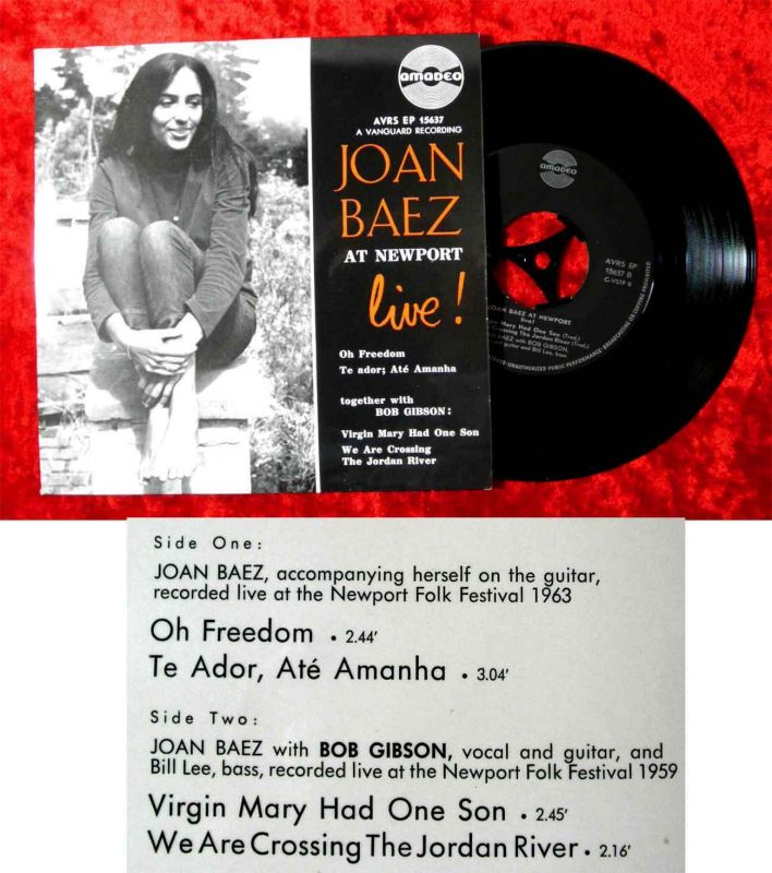 EP Joan Baez at Newport Live! (Amadeo AVRS EP 15637) A