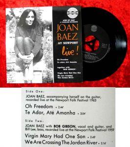 EP Joan Baez at Newport Live! (Amadeo AVRS EP 15637) A