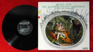LP Helen Vita: Die allerfrechsten Chansons (Golden 12/2501) Signiert