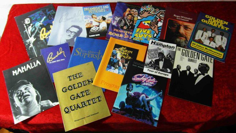 15 Tourprogramme -  Sammlung -  Buddy Holly Lionel Hampton Harlem Gospel Singers