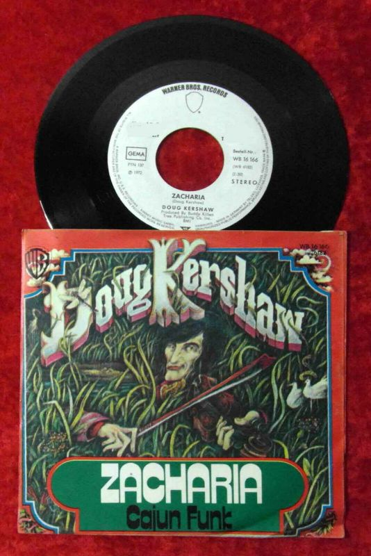 Single Doug Kershaw: Zacharia (Warner Bros. WB 16 166) D 1972 Promo