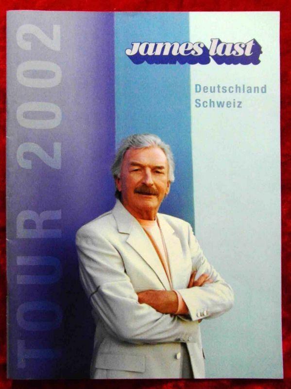Tourprogramm James Last Tour 2002  Deutschland - Schweiz