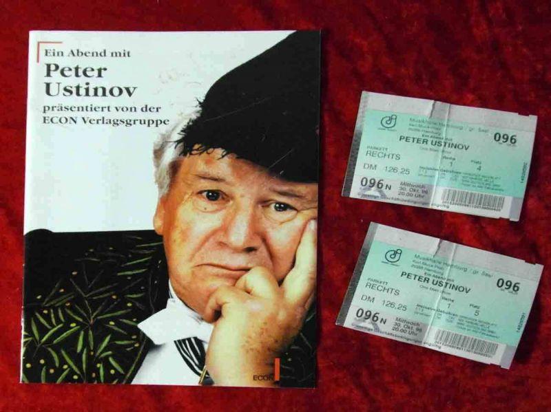 Tourprogramm Ein Abend mit Peter Ustinov 1996 incl. 2 Tickets