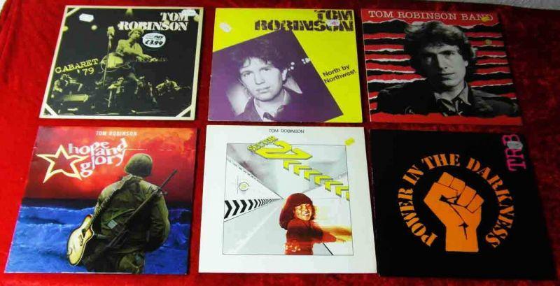 6 Langspielplatten TOM ROBINSON  - Vinylsammlung -