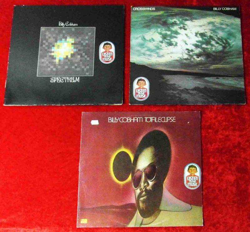 3 Langspielplatten  BILLY COBHAM - Vinylsammlung -