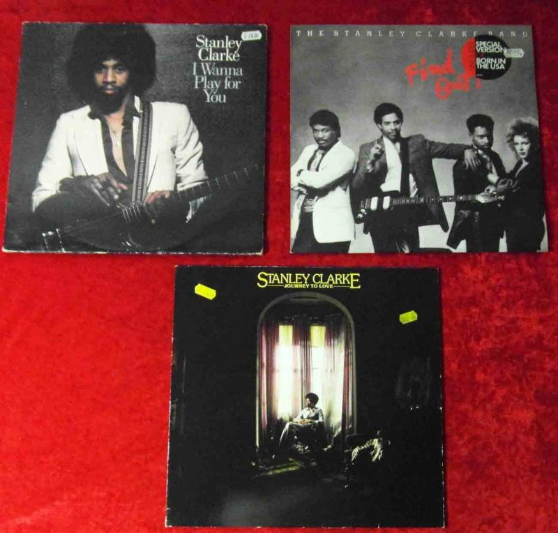 4 Langspielplatten  STANLEY CLARKE   - Vinylsammlung -