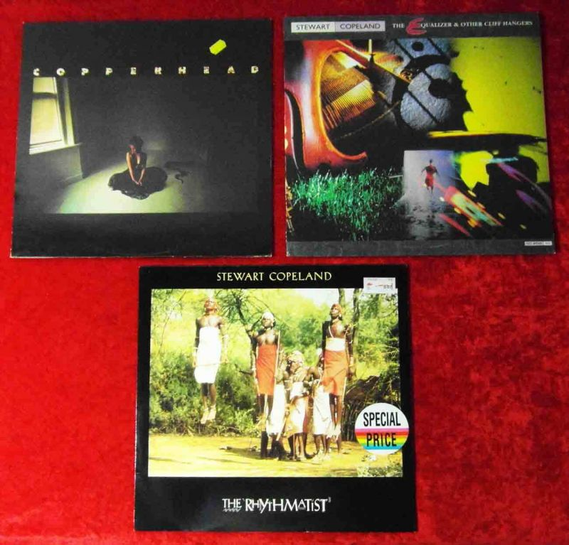 2 Langspielplatten  STEWART COPELAND / 1 LP Copperhead   - Vinylsammlung - 0