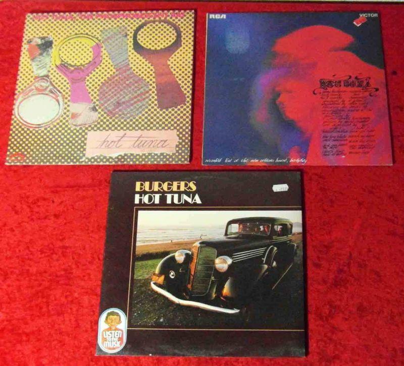 3 Langspielplatten HOT TUNA   - Vinylsammlung -