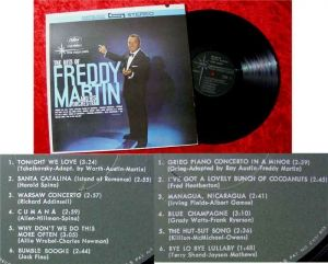 LP Freddy Martin The Hits of Freddy Martin and his Orch