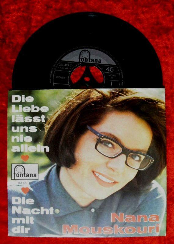 Single Nana Mouskouri: Die Liebe läßt uns nie allein (Fontana 261 497) D