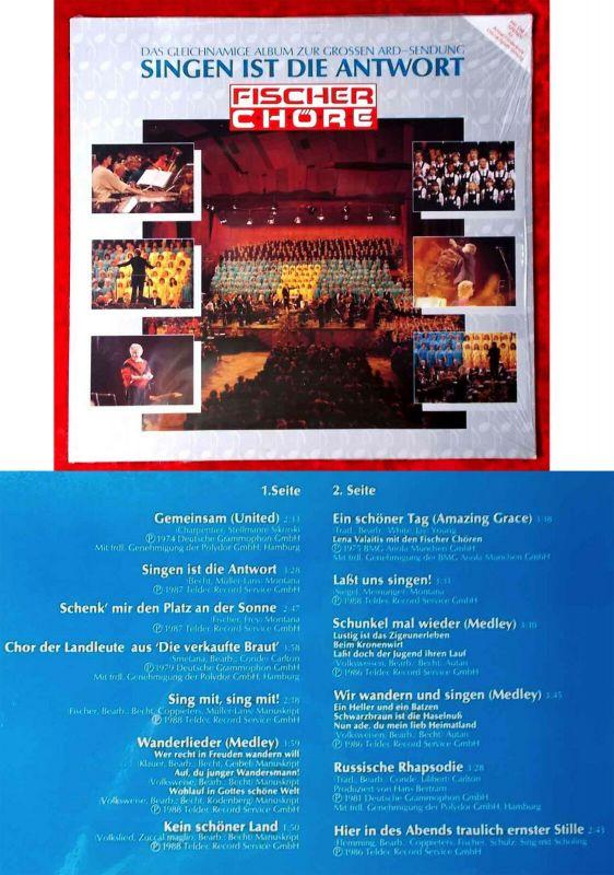 LP Fischer Chöre: Singen ist die Antwort (Teldec 246 060-1) D 1989