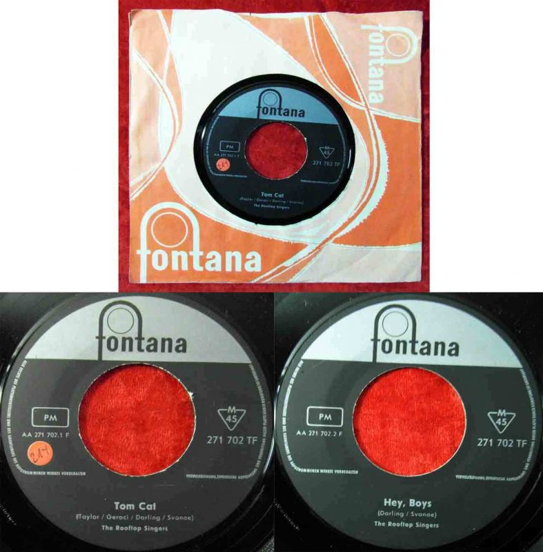Single Rooftop Singers: Tom Cat (Fontana 271 702 TF) D
