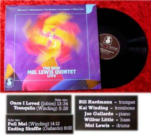 LP New Mel Lewis Quintet Live 1980