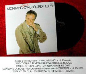 LP Yves Montand: D´Hier et D´Aujourd´Hui (Philips 9101 289) F 1980