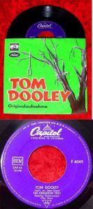 Single Kingston Trio: Tom Dooley (mit deutschem Einleitungstext) Capitol F 4049