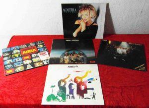6 Langspielplatten ABBA / AGNETHA FÄLTSKOG  - Vinylsammlung -