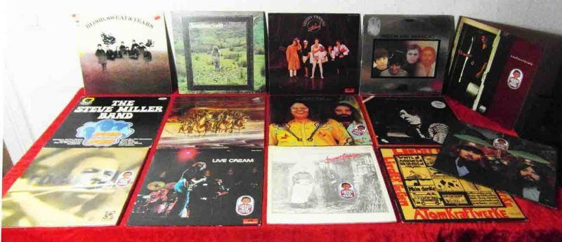 16 Langspielplatten ROCK/POP - CREAM FAIRPORT CONVENTION ... - Vinylsammlung -