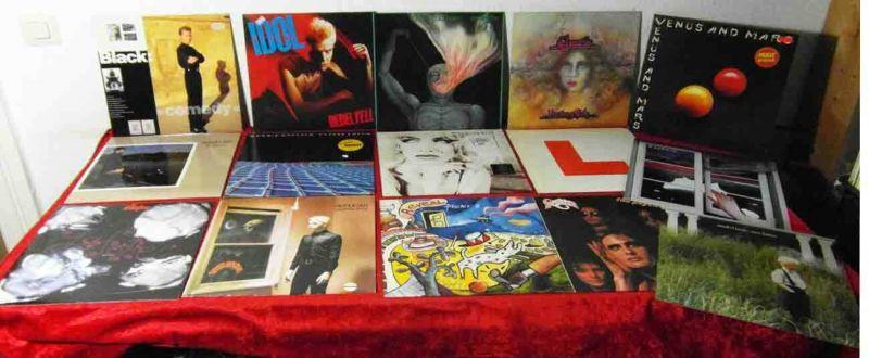 15 Langspielplatten ROCK/POP - BILLY IDOL STRANGLERS ICEHOUSE - Vinylsammlung -