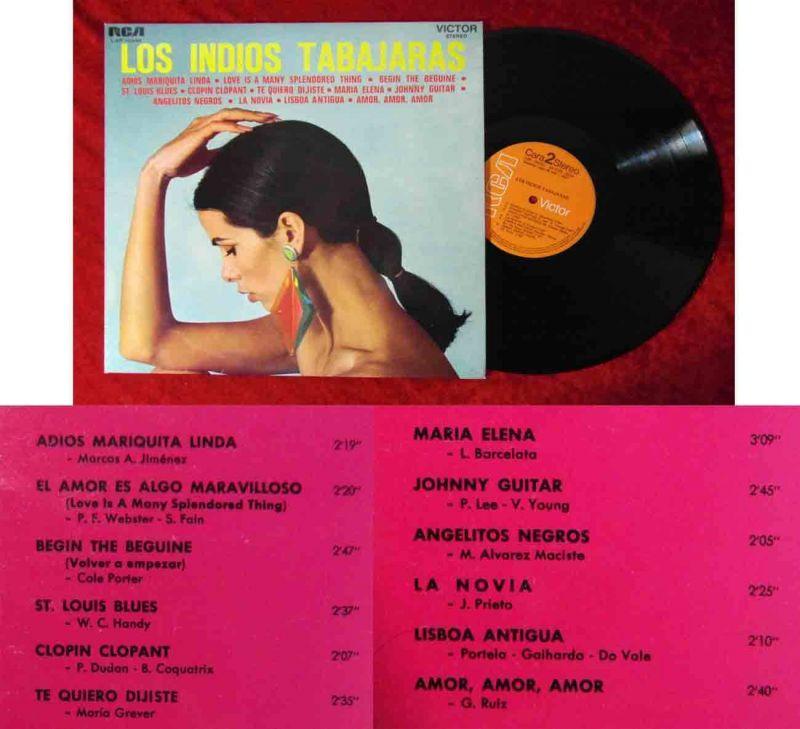 LP Los Indios Tabajaras (RCA LSP 10332) Spanien 1973