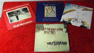 5 Langspielplatten WOLF BIERMANN  - Vinylsammlung -