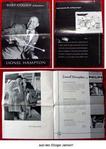 Original Programmheft Lionel Hampton & sein Orchester 1956