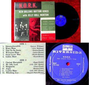 LP N.O.R.K. New Orleans Rhythm Kings w/ Jelly Roll Morton (Riverside 12-102) US